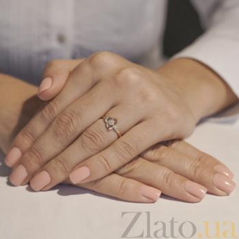 Золотое кольцо с фианитами Нежность весны 12826 сп