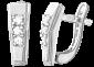 Серьги из серебра с фианитами Анжела SLX--С2Ф/063