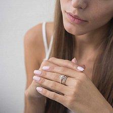 Золотое кольцо Беренис с бриллиантами