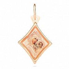 Ладанка из золота Богородица Казанская