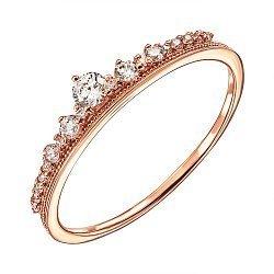 Кольцо из красного золота с фианитами 000135344