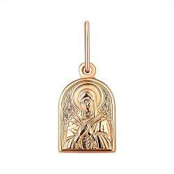 Ладанка из красного золота Божия Матерь Семистрельная 000141397