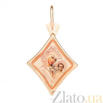 Ладанка из золота Богородица Казанская SUF--422107К