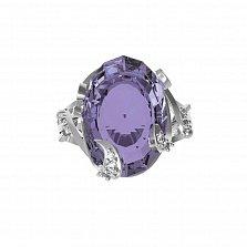 Серебряное кольцо Карина с аметистом и фианитами