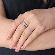 Кольцо из красного золота Фидес с фианитами