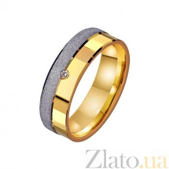Золотое обручальное кольцо Чарующая сила с одним фианитом TRF--4421648