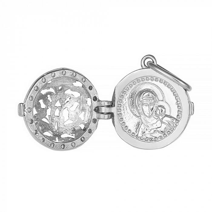 Серебряная ладанка с фианитами Блаженство любви 000028541