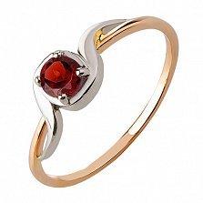 Кольцо из красного золота с гранатом  Миральда