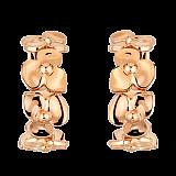 Серьги с розовом золоте Hortensia