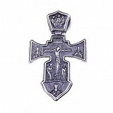 Серебряный крест с чернением Оберег