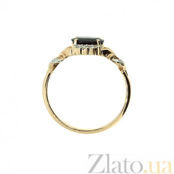 Золотое кольцо с сапфиром и бриллиантами Наиль ZMX--RS-6640_K