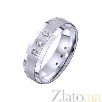 Золотое обручальное кольцо Воплощение любви с фианитами TRF--422732