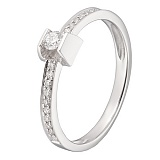 Кольцо в белом золоте Инна с бриллиантами