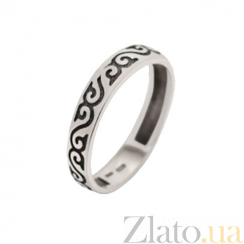 Серебряное кольцо Графический орнамент BGS--851к