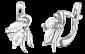 Серебряные сережки с фианитами Сарика 000024692