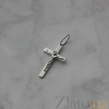 Крестик из серебра покрытый родием Всевышний HUF--3115-Р