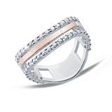 Серебряное кольцо с золотой пластиной Бритни