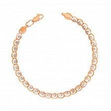 Золотой браслет в комбинированном цвете 000134408