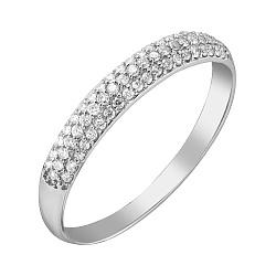 Кольцо Лея в белом золоте с бриллиантами