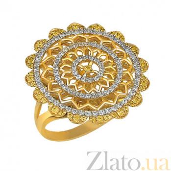 Кольцо из желтого золота Астра с цирконием VLT--ТТ1016-1
