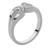 Серебряное кольцо с бриллиантами Киприда