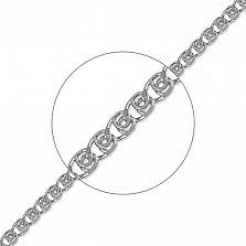 Серебряная цепь Нежность в плетении лав, 2,5мм