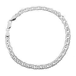 Серебряный браслет с родием, 6 мм 000026110