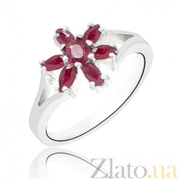 Серебряное кольцо Рубиновая фантазия 10000116