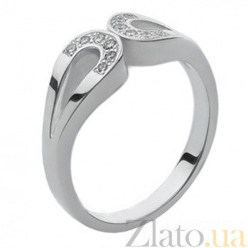 Серебряное кольцо с бриллиантами Киприда 79100699