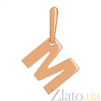 Золотой подвес Буква М 000024293