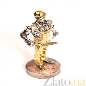 Серебряная статуэтка Строитель 1561