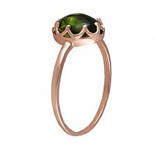 Кольцо в красном золоте Селина с хризопразом