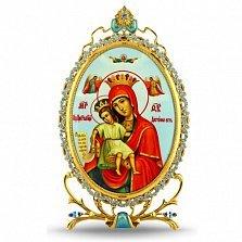 Серебряная икона с образом Божьей Матери Достойно Есть