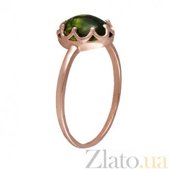 Кольцо в красном золоте Селина с хризопразом 000023469