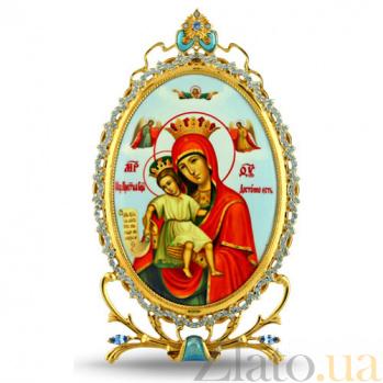 Серебряная икона с образом Божьей Матери Достойно Есть 2.78.0314