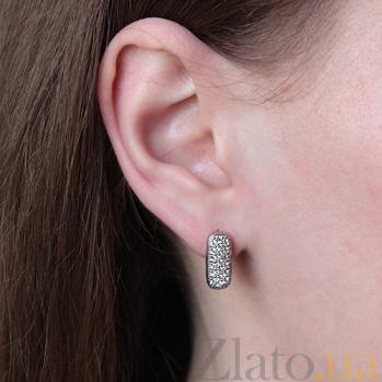 Серебряные серьги с фианитами Дебора AQA--72580б