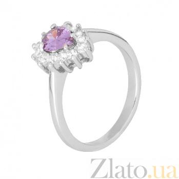 Серебряное кольцо с фиолетовым фианитом Пенелопа 000028305