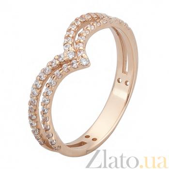 Золотое кольцо с фианитами Чайка TNG--380154