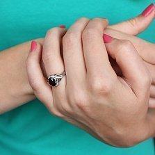 Серебряное кольцо Эвита с гранатом и цирконием