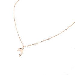 Золотой браслет на ногу с дельфином маленький Флиппер