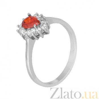 Серебряное кольцо с красным фианитом Пенелопа 000028310
