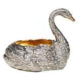Серебряная паштетница Лебедь