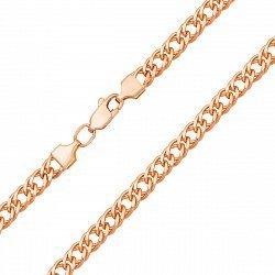 Цепочка из красного золота в плетении ромб 000133264