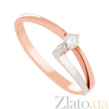 Золотое кольцо с бриллиантом Современный стиль VLN--122-054