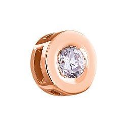 Кулон из красного золота с бриллиантом 000005549