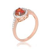 Кольцо из серебра с красным цирконием Индира