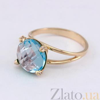 Золотое кольцо с топазом и фианитами Джозефина VLN--112-1622-1