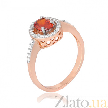 Кольцо из серебра с красным цирконием Индира 000028423