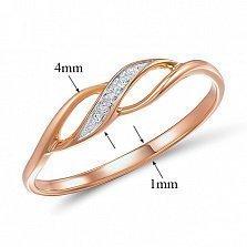 Кольцо из красного золота с бриллиантами Бланш