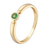 Кольцо в желтом золоте Надежда с изумрудом